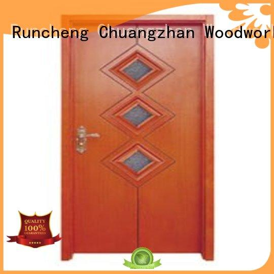 glazed door durable Runcheng Woodworking Brand wooden double glazed doors