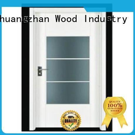 popular solid wooden interior flush door design for hotels Runcheng Chuangzhan
