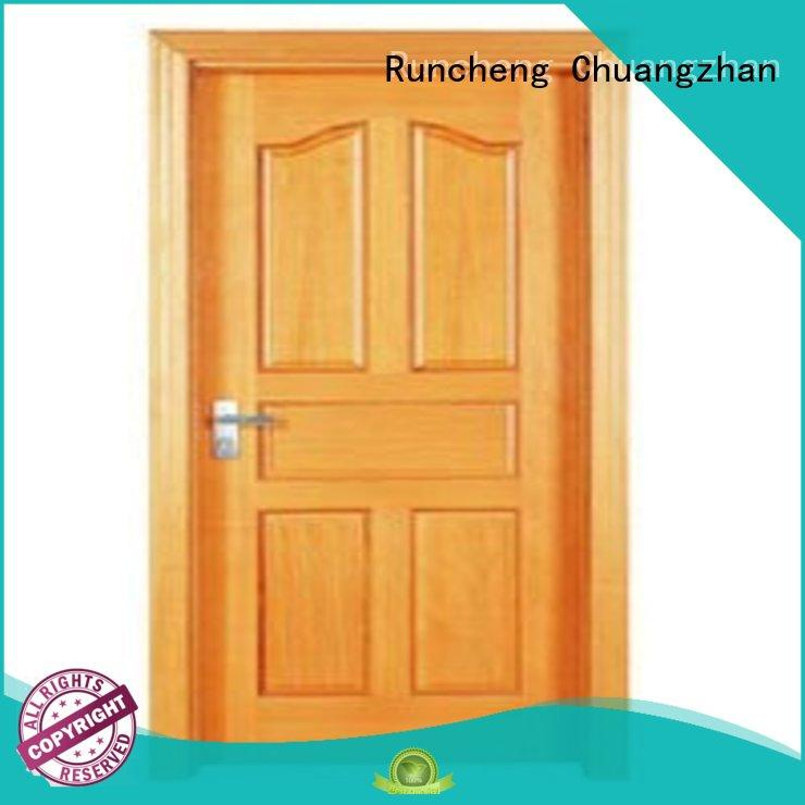 Runcheng Chuangzhan modern solid wood flush door manufacturers for homes