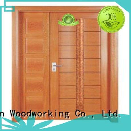 double door solid quality OEM interior double doors Runcheng Woodworking