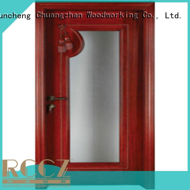 Runcheng Woodworking pure x0343 wooden glazed doors door solid