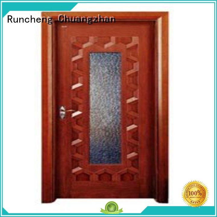 Runcheng Chuangzhan attractive glazed wood door for business for villas