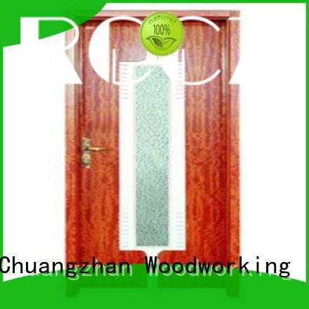 Runcheng Chuangzhan attractive internal glazed double doors wholesale for villas