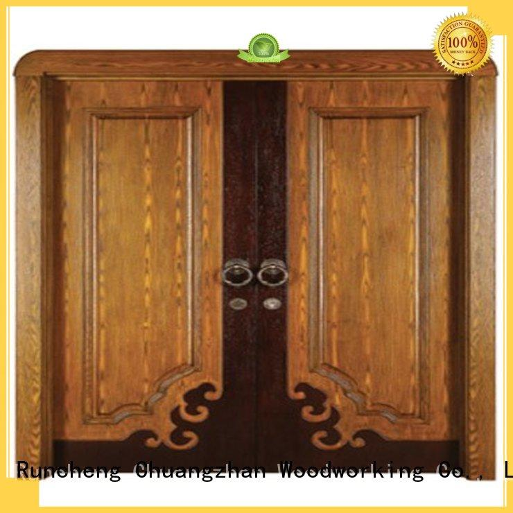 Runcheng Woodworking Brand double kitchen auspicious custom internal double doors