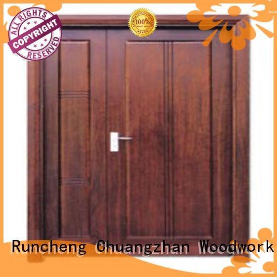 Runcheng Woodworking Brand door solid quality double white double doors