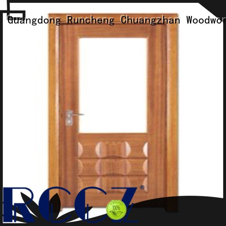 Runcheng Chuangzhan durability white glazed interior doors factory for hotels