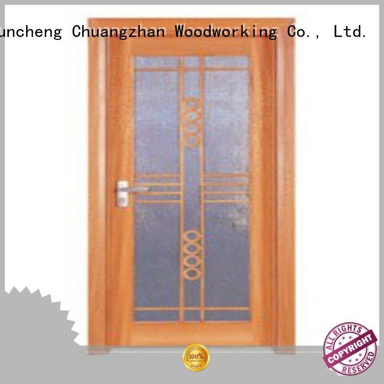 Wholesale durable hardwood glazed internal doors door Runcheng Woodworking Brand
