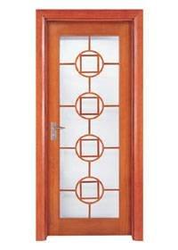 Runcheng Woodworking Glazed Door X018-4 Glazed Door image1