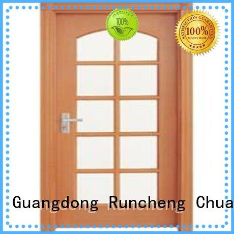Runcheng Chuangzhan durability wooden double glazed doors factory for offices