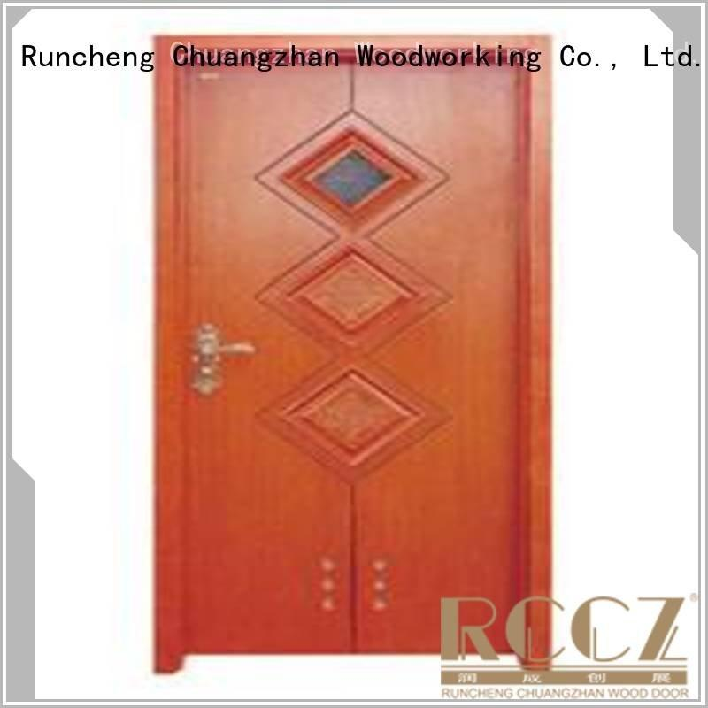 composite interior doors x0212 Runcheng Woodworking Brand solid wood bathroom doors