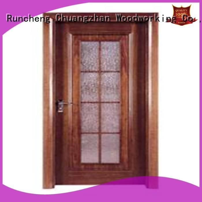Runcheng Woodworking Brand pp005 flush mdf interior wooden door pp0123 pp009