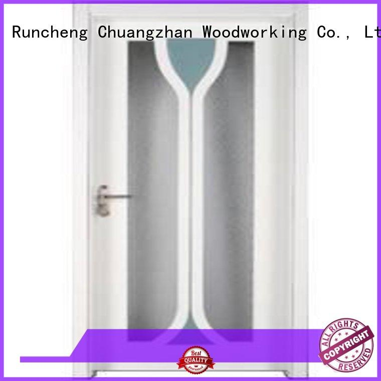 pure Custom door solid wooden double glazed doors Runcheng Woodworking wood
