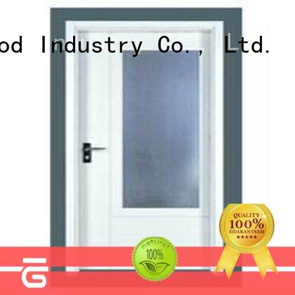 Runcheng Chuangzhan popular flush solid core wood interior doors series for offices