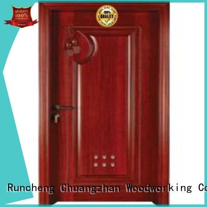 pvc bathroom wooden door door bathroom OEM wooden bathroom door Runcheng Woodworking