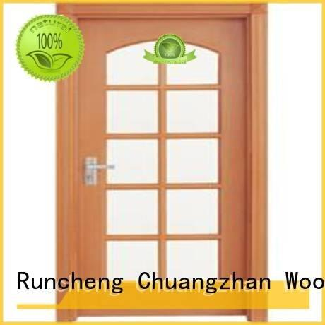 glazed wooden glazed front doors door Runcheng Woodworking