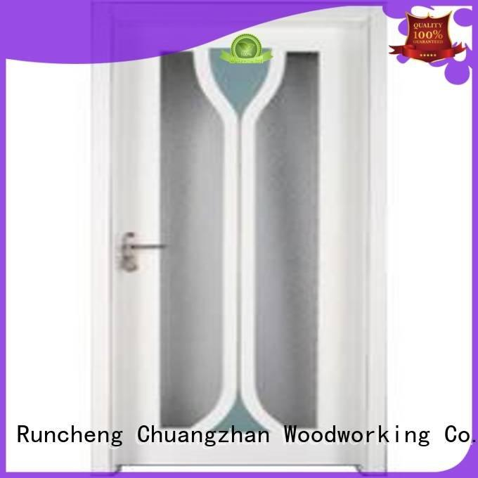 door wooden glazed doorsRuncheng Woodworking Brand