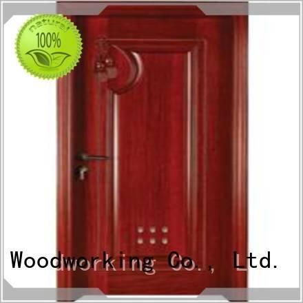 Custom wooden bathroom door door bathroom s0112 Runcheng Woodworking