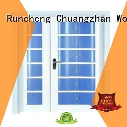 Quality Runcheng Woodworking Brand door double interior double doors