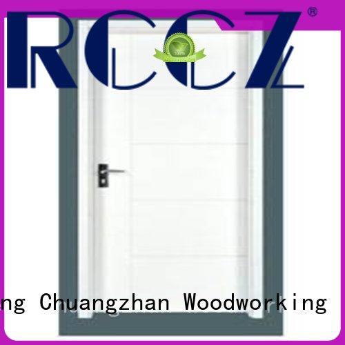 Runcheng Chuangzhan popular wooden flush door price wholesale for offices