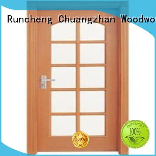 Runcheng Woodworking Brand door hardwood glazed internal doors durable supplier