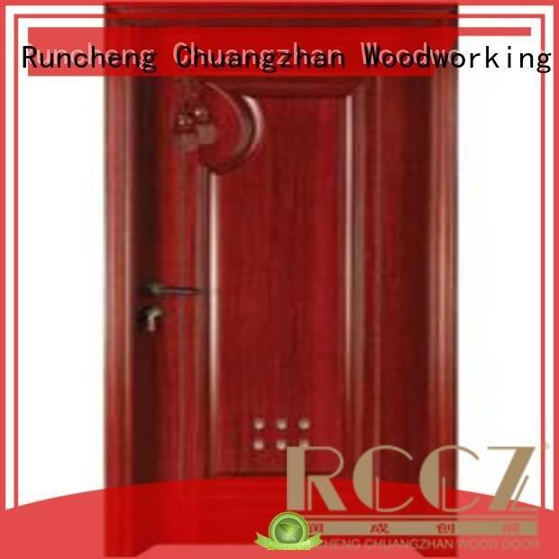 Quality Runcheng Woodworking Brand bathroom wooden bathroom door