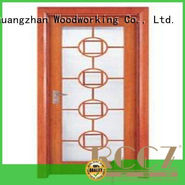 durable glazed door door wooden double glazed doors Runcheng Woodworking