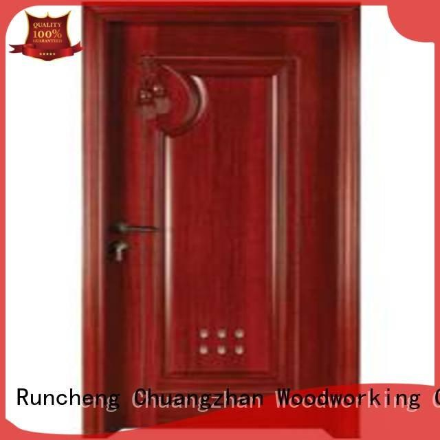 Runcheng Woodworking pvc bathroom wooden door s0092 s0072 bathroom door