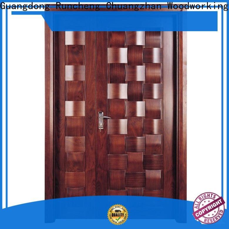 Runcheng Chuangzhan modern wooden double doors suppliers for hotels