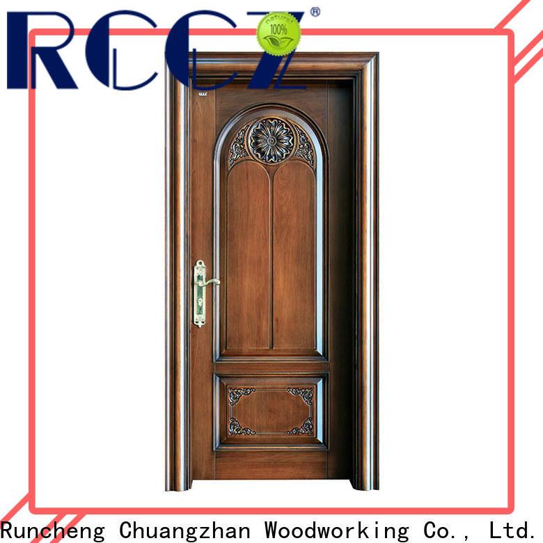 Runcheng Chuangzhan Custom external wood doors manufacturers for offices