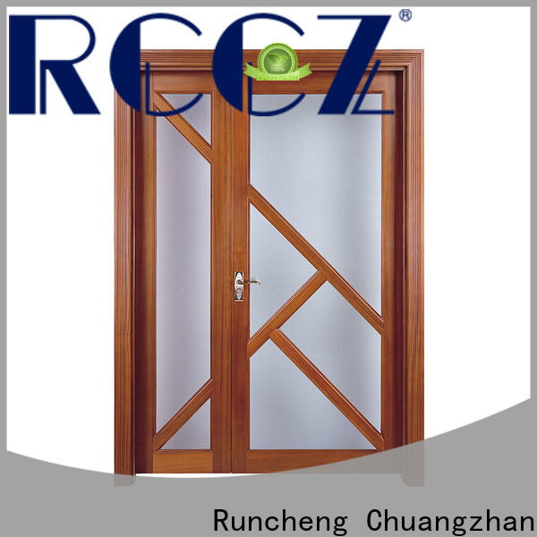 Runcheng Chuangzhan glass wooden door company for hotels