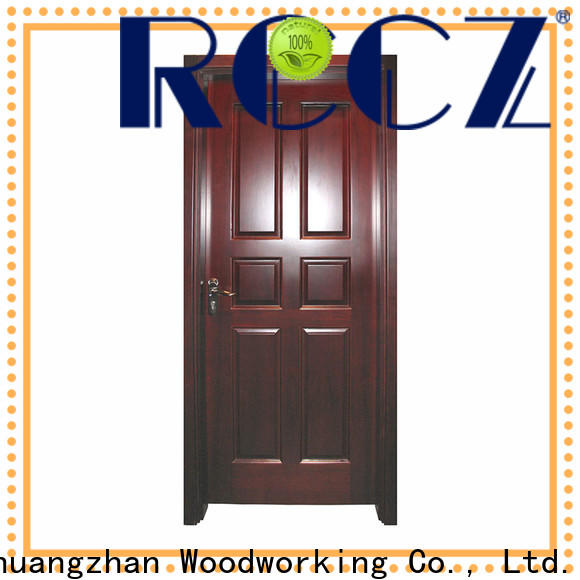 Custom interior wood doors with glass factory for indoor