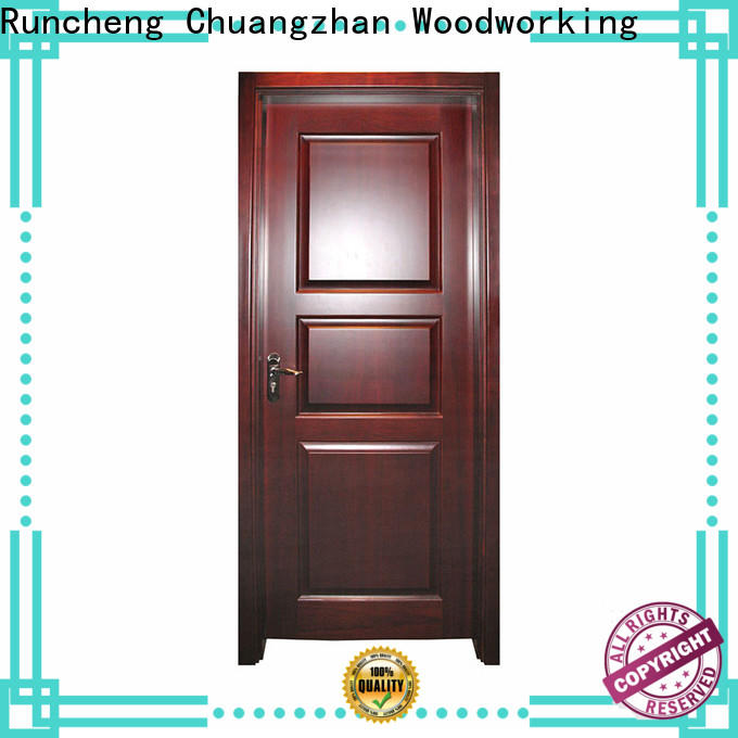 Runcheng Chuangzhan Latest interior wood doors with glass supply for villas