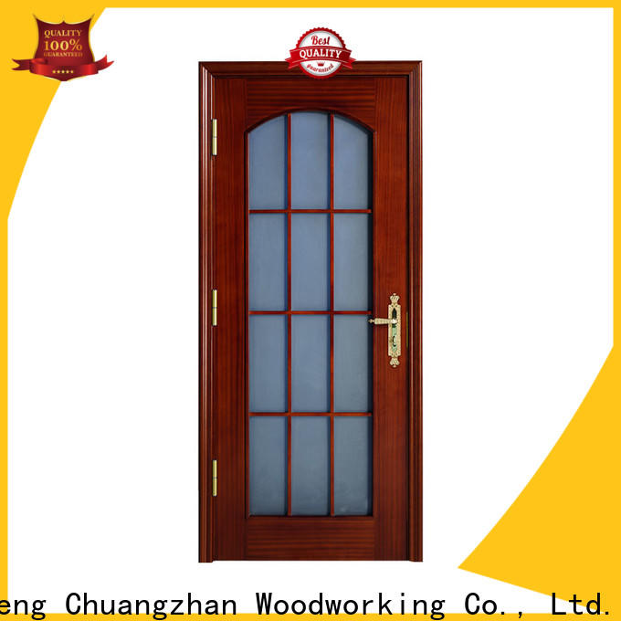 Custom modern wood door factory for indoor