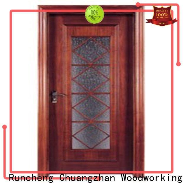 Top wooden double glazed doors factory for indoor
