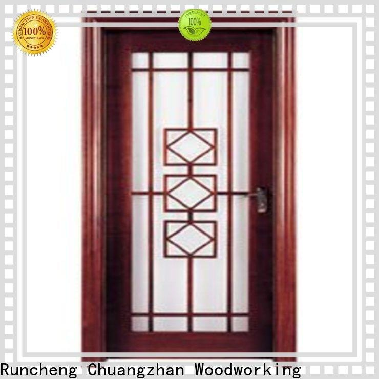 Runcheng Chuangzhan attractive wooden double glazed doors manufacturers for hotels