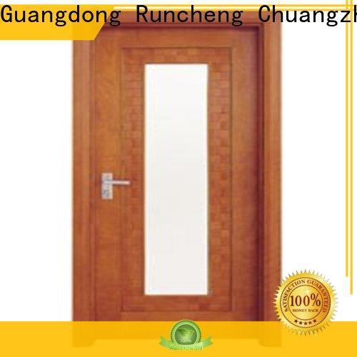 Custom glazed wood door glazed factory for indoor