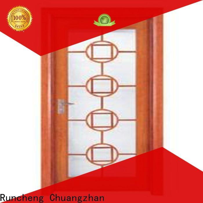 Runcheng Chuangzhan Custom wooden double glazed doors for business for hotels