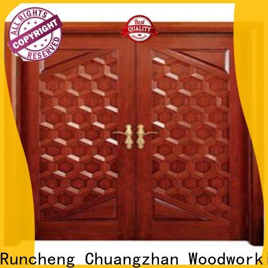 New double wood front doors supply for offices