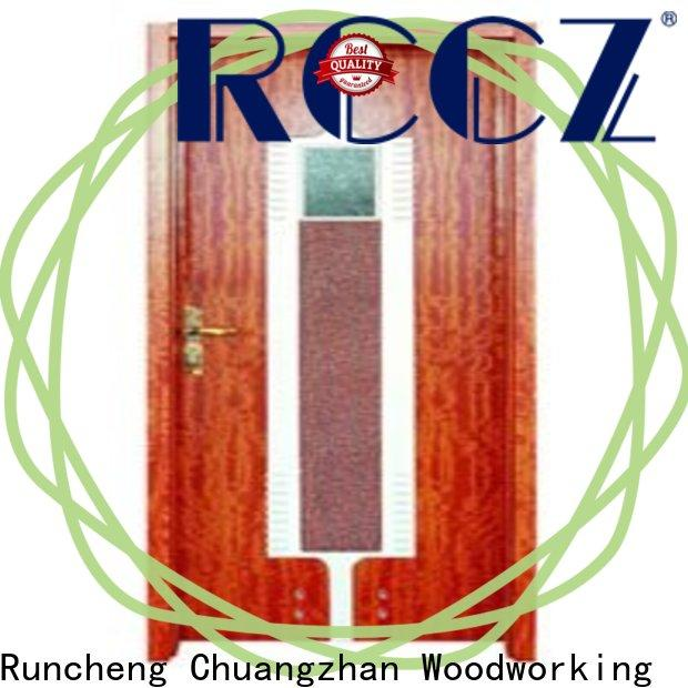 Runcheng Chuangzhan Latest wooden bathroom door suppliers for offices