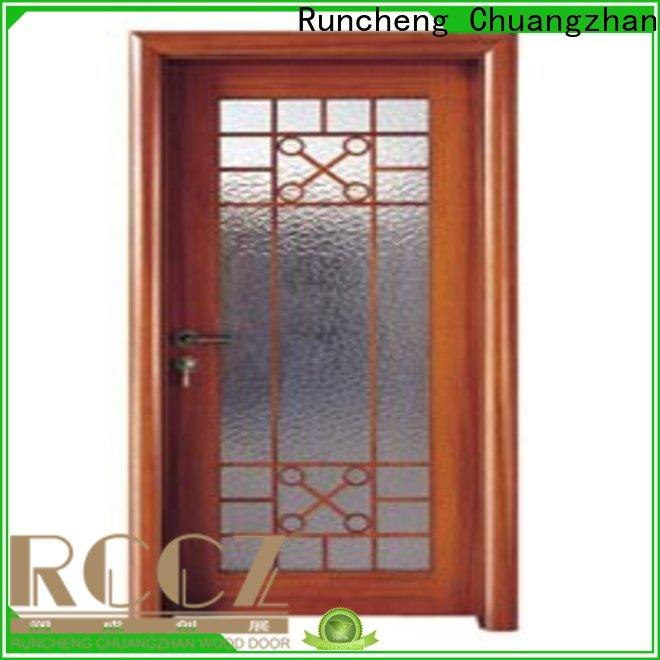 Runcheng Chuangzhan eco-friendly wooden double glazed doors for business for indoor
