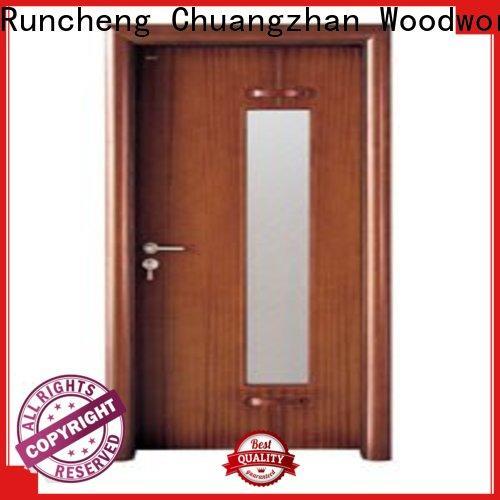 Runcheng Chuangzhan attractive glazed wood door manufacturers for homes