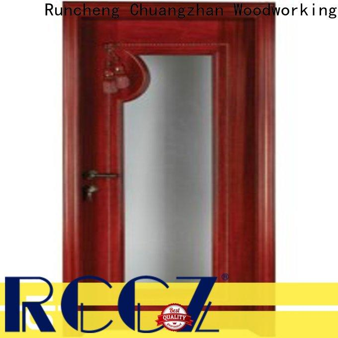 Runcheng Chuangzhan Best internal glazed double doors manufacturers for hotels