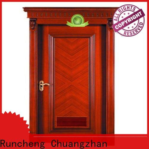 Runcheng Chuangzhan victorian wood veneer door factory for hotels