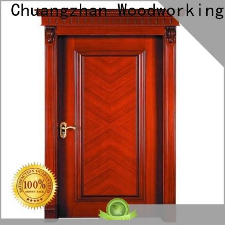 Custom wood veneer door bathroom suppliers for homes