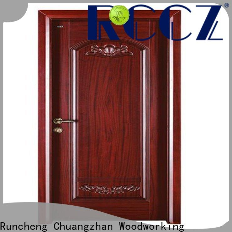 Runcheng Chuangzhan wooden interior wooden door with solid wood for business for hotels