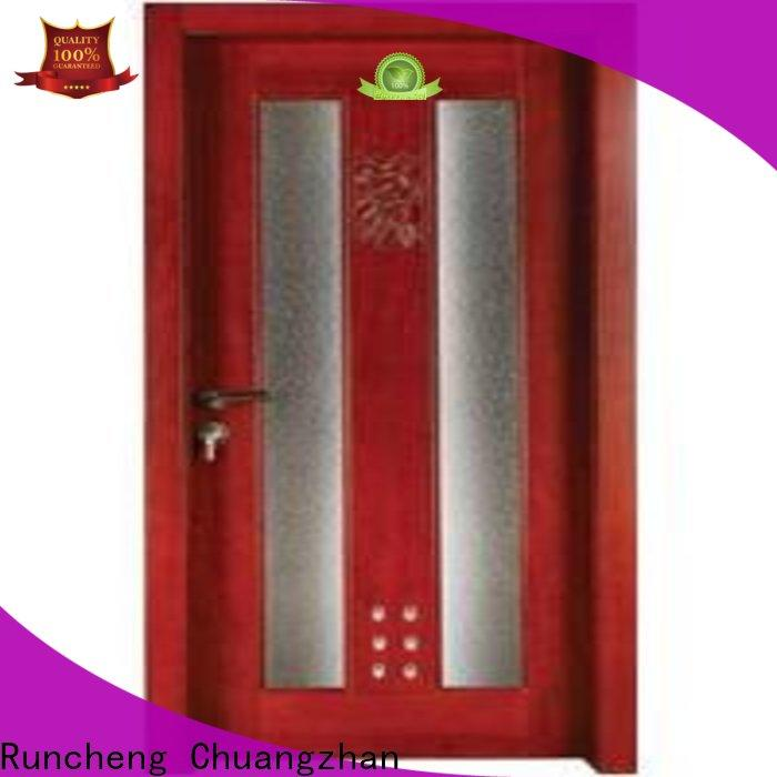 Runcheng Chuangzhan high-grade wooden bathroom door supply for hotels