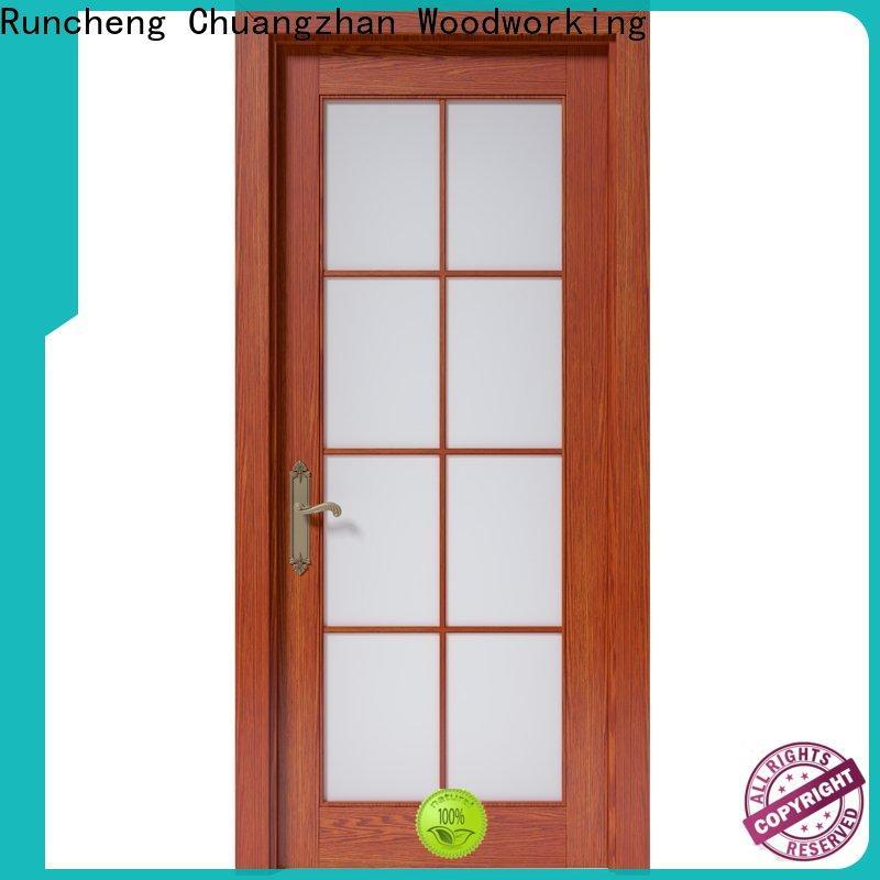 Runcheng Chuangzhan wood effect composite door factory for villas