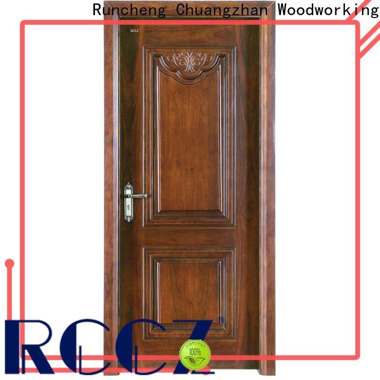 Runcheng Chuangzhan Wholesale wood effect composite door supply for indoor