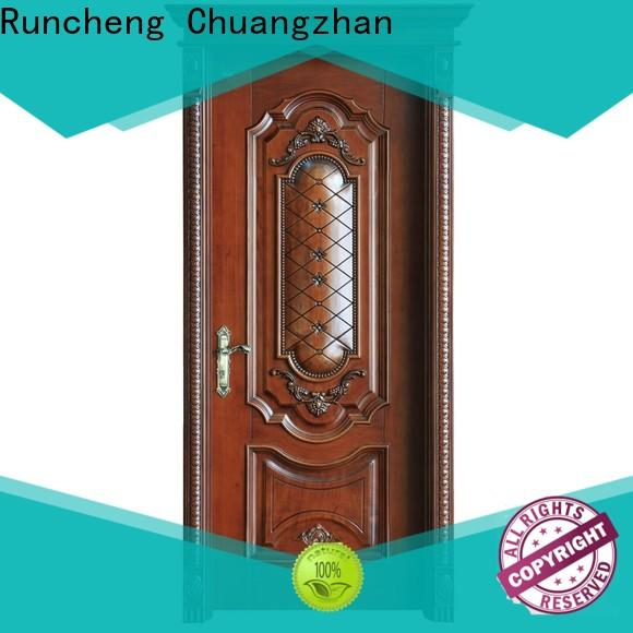 Runcheng Chuangzhan High-quality solid wood composite doors factory for villas