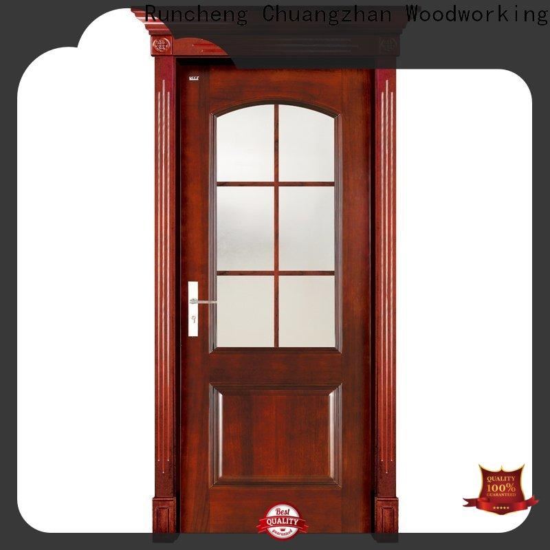 Runcheng Chuangzhan Wholesale interior wood doors with glass factory for villas